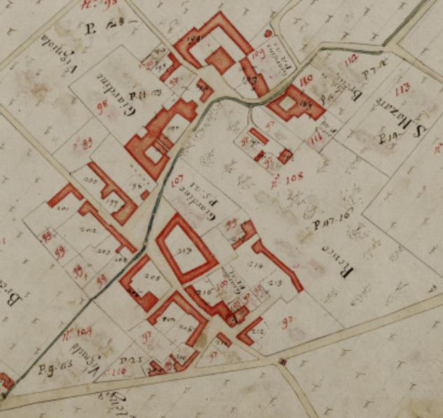 Mappa del catasto teresiano, 1721