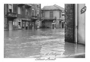 Esondazione del fiume Lambro nelle via di San Maurizio 1970