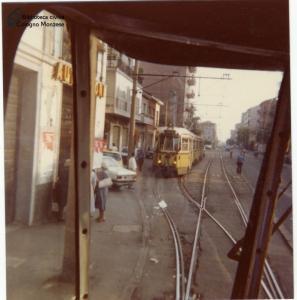 Tram in via Milano (anni '70)