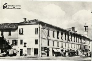 Ex filanda in via Umberto I, oggi via Indipendenza (anni '40 '50)