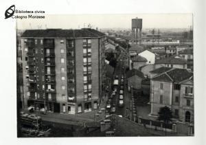Panoramica dall'alto di via Piave (anni '70)