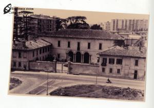 Vista sulla villa Besozzi Casati (anni '60)