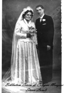 Cesare Mosca e Corinna Peraboni il giorno delle loro nozze 28 novembre 1949